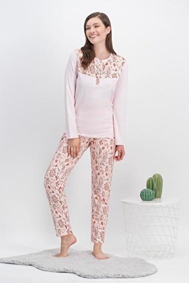 Arnetta  Vintage Flowers Cure Açık Pembe Kadın Pijama Takımı Pembe